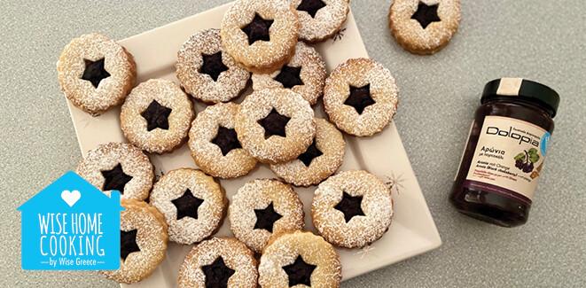 Wise Home Cooking: Χριστουγεννιάτικα μπισκότα γεμιστά με μαρμελάδα