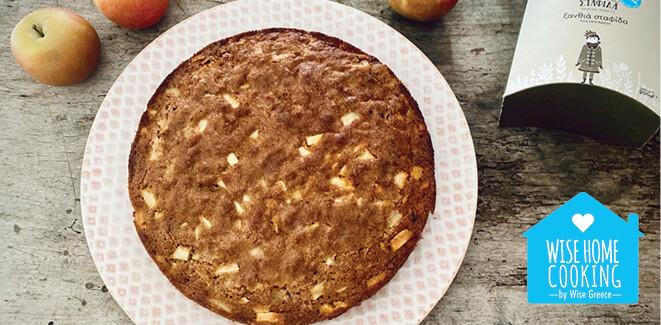 Wise Home Cooking: Κέικ με μήλα και σταφίδες